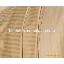 250T 40s * 40s sateen Streifen weiß 100% Baumwollstoff für Bettwäsche