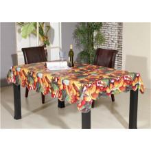 Neu gestaltete freundliche LFGB Spunlace Unterstützung PVC gedruckte Tischdecke mit Frucht