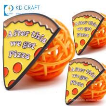 OEM ODM design personalized custom food shaped metal enamel brand dominos pizza lapel pin badge for sale