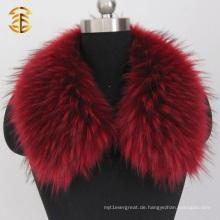 Top Qualität Plues Größe gefärbt Farbe echte Waschbär Pelz Trim für Hood
