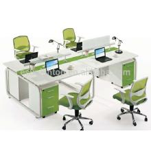 Escritório de venda quente escritório de quatro assentos mobiliário de mesa, design de móveis de mesa de escritório
