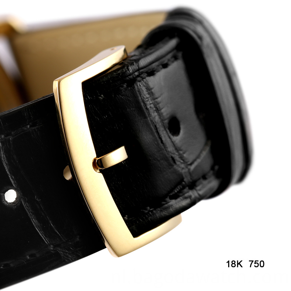 Watch Strap With Gold Buckle