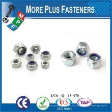 Fabriqué en Taiwan M30-3.5 DIN 985 Grade A2 en acier inoxydable Nylon Insert Lock Nut