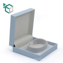 Luxus blaue Farbe magetic closureJewelry Verpackung mit Flusen inneren Fach