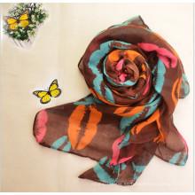 Tela vendedora caliente de la gasa de las mujeres del multicolor de la moda para la bufanda