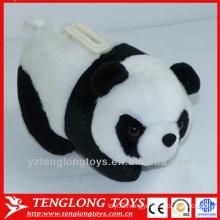 Plush animal shaped panda money saving box
