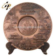 Plaque de métal de sport en cuivre gravé souvenir antique 3d antique