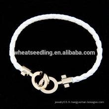 Bracelet à cordes en gros bracelet à cordes personnalisé bon marché
