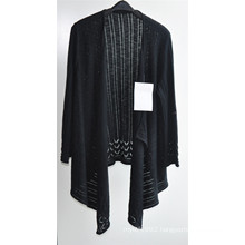 Women Long Sleeve Opean Patterned Knitwear Cardigan