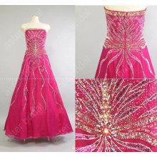Nouveau style jolie perlée parole longueur robe de soirée robe de soiréeMR-2-004
