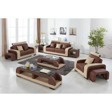 Conjunto de sofás estofados de couro estilo francês