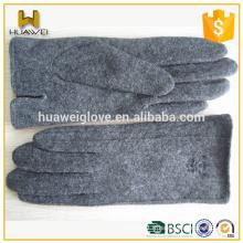 Gants de laine de vélo gris bon marché Gants de laine neutre et épais épais Hiver