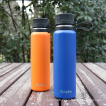 Water Bottle Insulated Cold 24 Hours Hot 12 Hours -28 OZ, Stainless Steel Wide Mouth Vacuum Thermos with Meda lStrainer