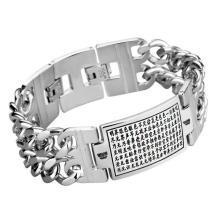 Gótico Punk Style Stainless Jewelry ID Pulseras talladas Patrón