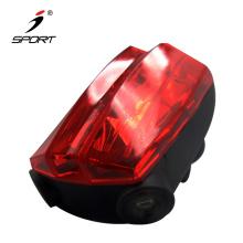 bike bicycle laser beam rear tail light with 5 LED light original design