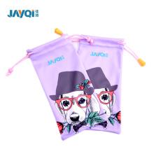 Polyester Single Pull Drawstring Bag For Eyeglass