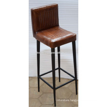 Industrial Leather Bar Chair