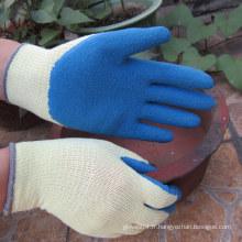 Gants enrobés de dentelle Safety Blue Latex Gant de travail China Manufactures