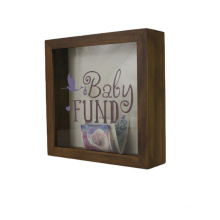 Wholesale Good Quality Custom White Wooden Art Deep Picture Photo Shadow Box Frame