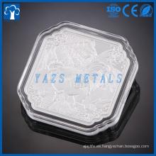 moneda de metal de aluminio
