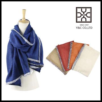 Novo design moda cor sólida quente China Inverno cachecol
