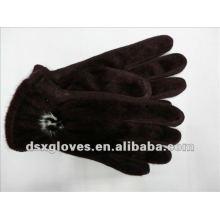 fashion short fur fabric gloves for women