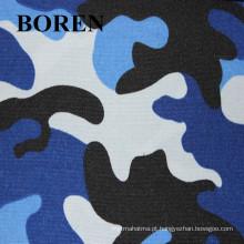 Camuflagem militar poli / algodão tecido impresso à prova d'água