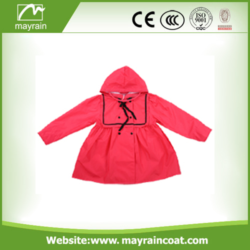 Yellow Polyester Raincoat for Child