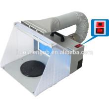 HS-E420DCLK pulverizador de aerógrafo extractor mini cabina