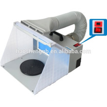 HS-E420DCLK spraying airbrush extractor mini booth