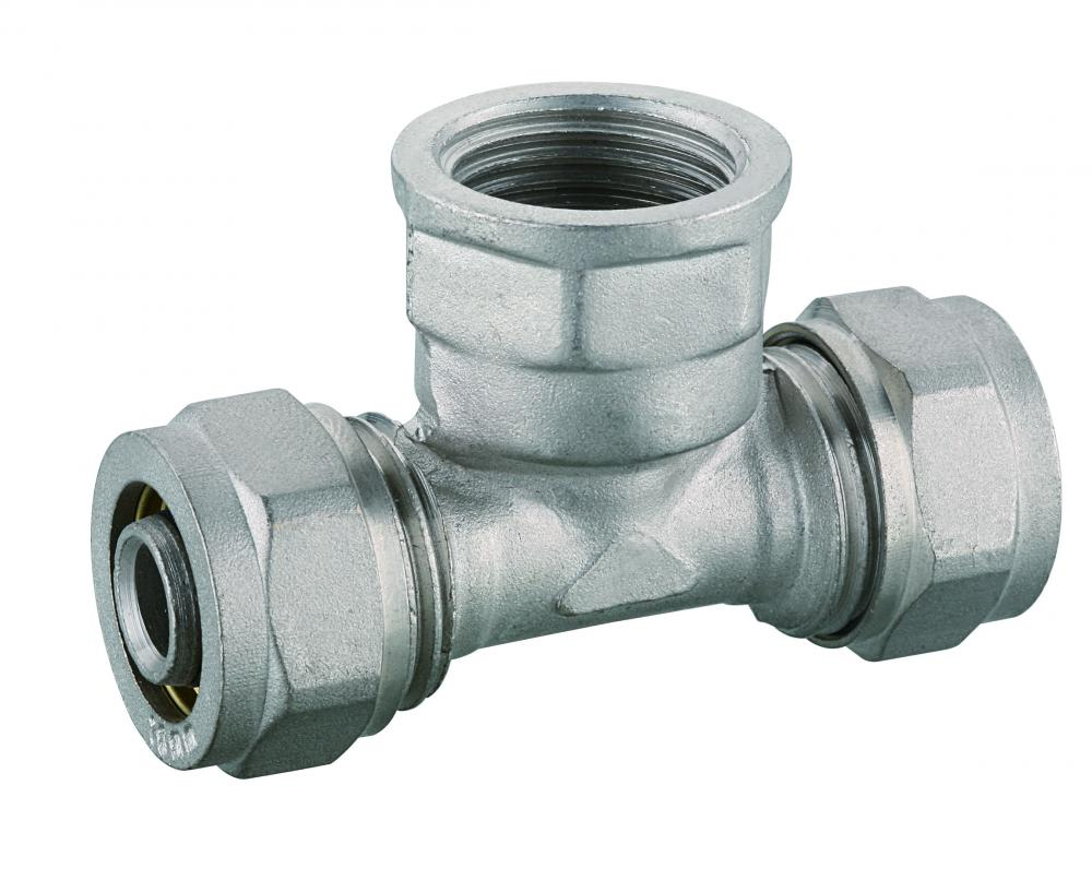 female tee for PEX pipe compression fitting