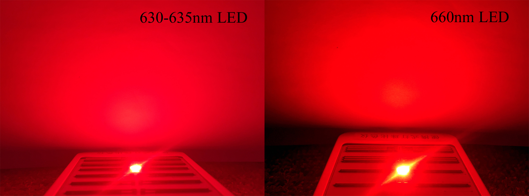 Red LED 635nm VS 660nm