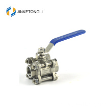 JKTL3B061 a216 wcb 3 piece air sw stainless steel ball valve penggantian