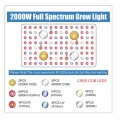 2000w Cob Full Spectrum LED crece la luz