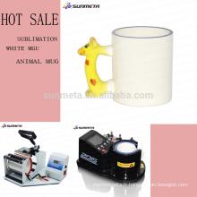 Tasse blanche d'animal sublimation pour la publicité et le cadeau de pomotion à prix compétitif