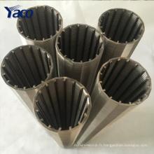 0.25mm 0.5mm 1mm fente 304 acier inoxydable wedge fil minier tamis filtre maille