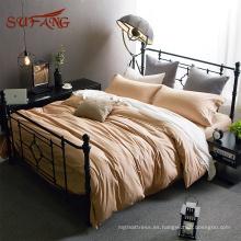 Súper moda california tamaño extra Pima funda de edredón de ropa de cama de algodón con almohada decorativa