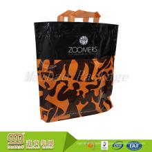 Oem Custom Made Cheap Price Reinforced Heat Seal Pe Plastic Tote Bags With Soft Loop Handles