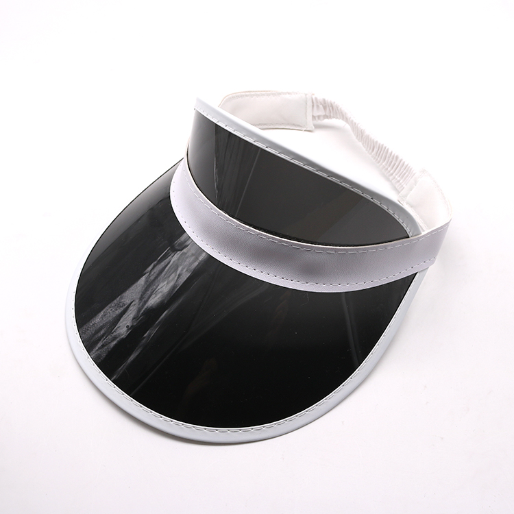 black transparent pvc visor cap