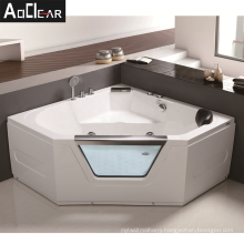 cheap big  rectangular corner bathtub  with massage and water jets
