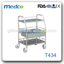 Hospital Equipment Stainless Steel Tray Surgical Trolley T434