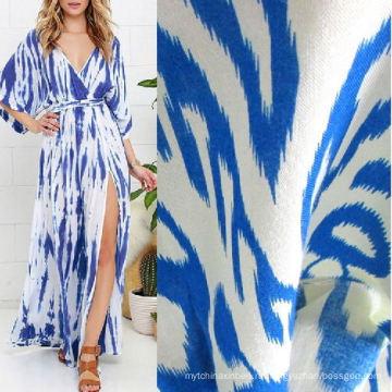Ткань из вискозы с рисунком для летней одежды