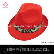 Promotional mens red fedora hats