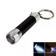 Promotion Zinc Alloy Mini LED Flashlight Torch Keychain