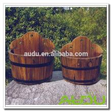 Audu Открытый цветок Большой завод Box Деревянные горшки для растений