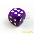 Six Side 16MM Opaque Plastic Colored Dice Purple