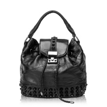 Handbag of Skull Design and Real Leather