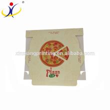 Logo adapté aux besoins du client! Impression faite sur commande de boîte de livraison de pizza de carton blanc de conception
