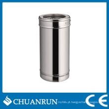 Tubo reto de parede dupla de aço inoxidável de 50 cm para fogões a pellets