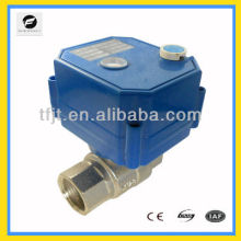 Electric motor drive DC12V ball valve with 5 wires signal feedback function for Small equipment for automatic control system